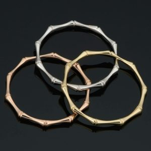 Women's 14k Yellow White or Rose Gold 1.8 mm Bamboo Ring