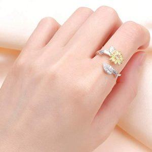 adjustable sunflower ring