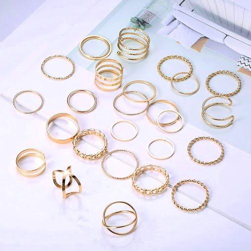 YADOCA 25 Piece Stackable Midi Ring Set