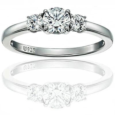 Classic 3 stone ring