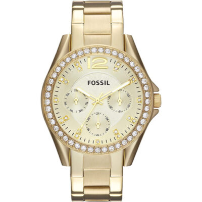 Fossil Women's Riley Crystal-Accented Multifunction Quartz Watch
